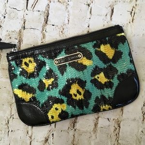 Betsy Johnson sequined Leopard Clutch
